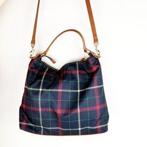 Talbots Leather Stap Plaid Shoulder/Crossbody Bag